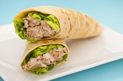 Wraps au thon et au curry